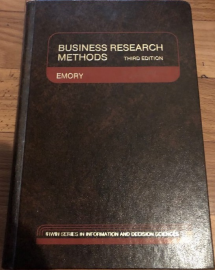 Business Research Methods (The Irwin series in information and decision sciences)